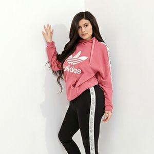 Mauve pink Adidas Tape hoodie